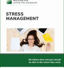 Photo of Stress Management manual, ACHIEVE Centre for Leadership & Workplace Performance