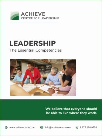 Image of Leadership - The Essential Competencies manual cover