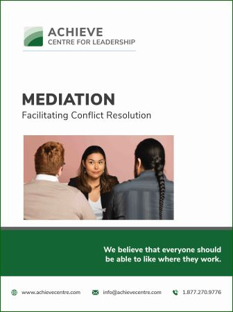Mediation - Facilitating Conflict Resolution manual cover, ACHIEVE