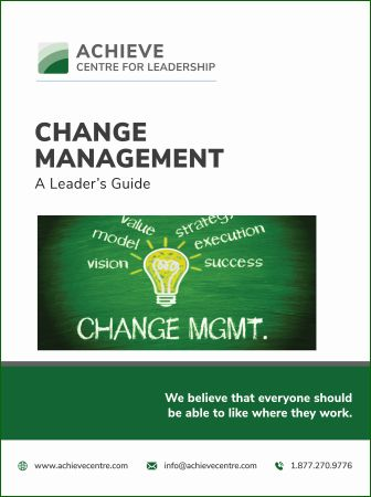 Change Management Leaders Guide manual cover