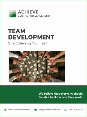 Image of Team Development manual cover