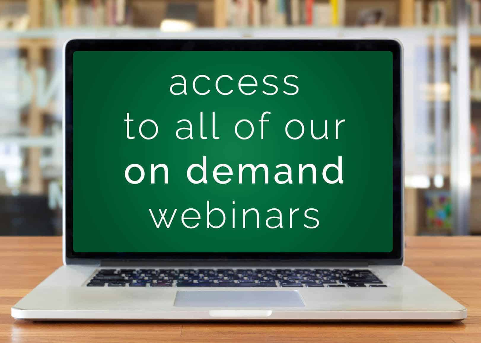 Photo of computer - Access all of our on demand webinars