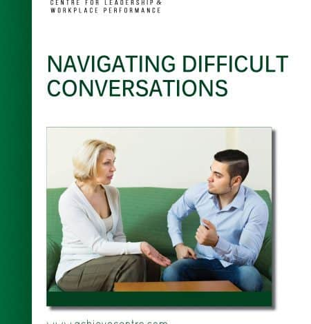 Image of Navigating Difficult Conversations manual cover