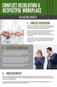 Conflict Resolution & Respectful Workplace Guidelines