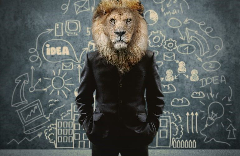 Image of man with lions lead, achieve leadership training
