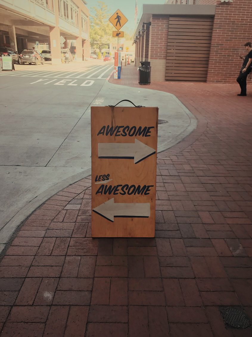 Image of awesome sign, achieve leadership training