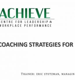 Image of Coaching Strategies for Leaders On-demand workshop