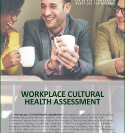 Image of Workplace Cultural Health Assessment Tool, achieve leadership training