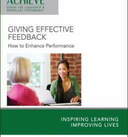 ACHIEVE E-Manual Cover Effective Feedback