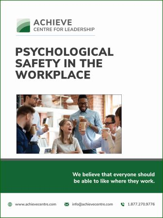Psychological Safety in the Workplace ACHIEVE manual cover