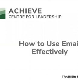 How to Use Email Effectively Webinar