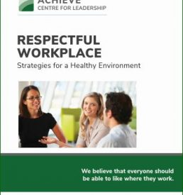 Image of Respectful Workplace Manual cover