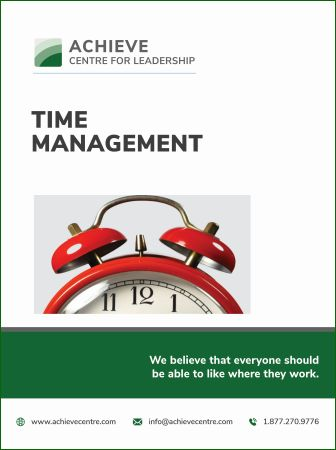 Photo for Time Management Workshop manual, ACHIEVE Centre for Leadership