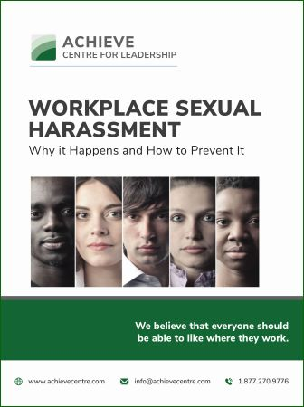 Image of Workplace Sexual Harassment manual Achieve Centre for Leadership