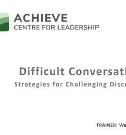 On-Demand Webinar photo of first slide for Difficult Conversastions